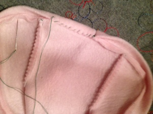 whipstitch binding to seam allowances